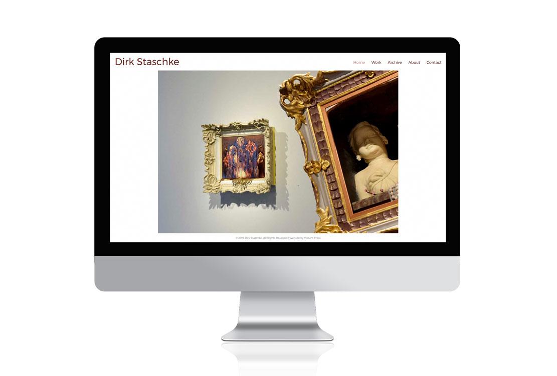 artdirk.com Dirk Staschke artist portfolio website design