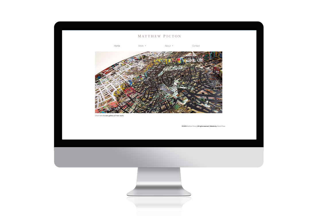 Matthew Picton artist portfolio website design