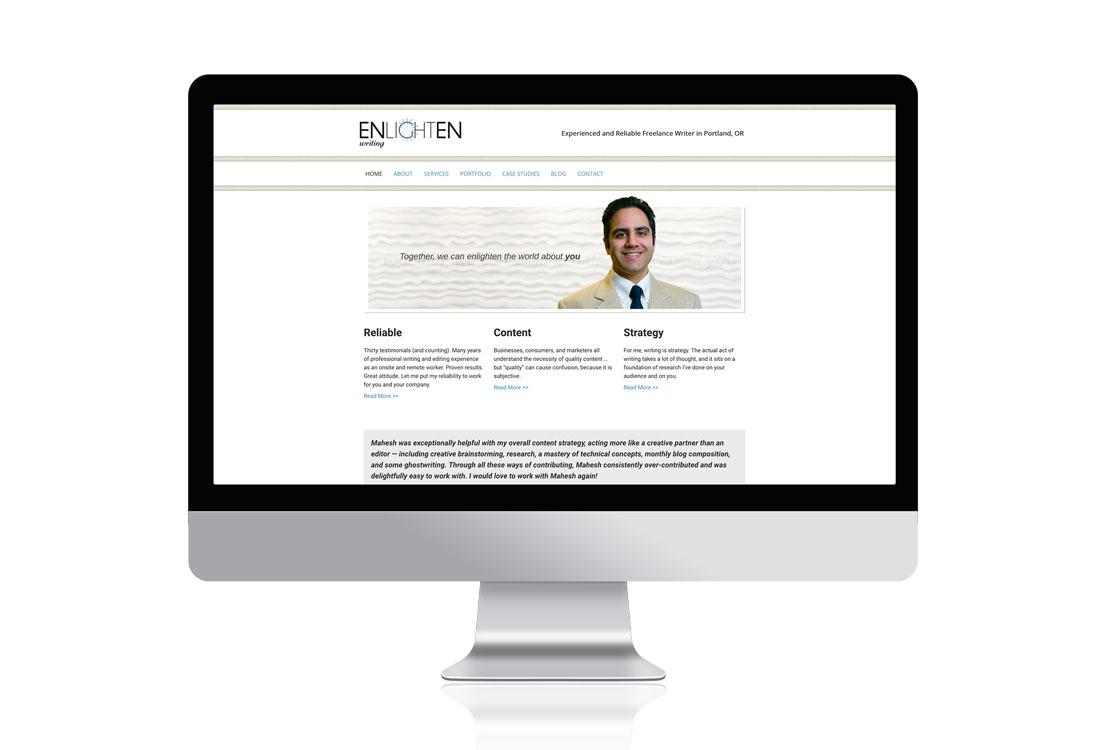 enlightenwriting.com Portland copywriter web design services